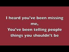Rumor Has It - Adele (Lyrics)  this was on the radio like the whole time the other day
