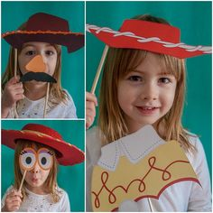 More free printable Toy Story photo booth props - Jessie, Woody, Mr. Potato Head, Mrs. Potato Head