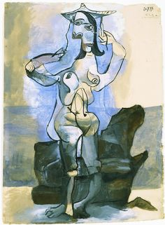 Pablo Picasso - Bather by the Sea, 1939