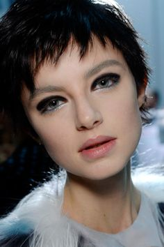 backstage beauty from the Emporio #Armani Fall/Winter 2014 fashion show
