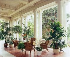 East loggia, Huntington Library, San Marino, CA -- classic instance of 'outdoor room'