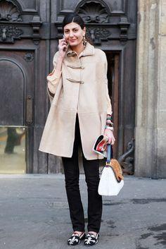 More Giovanna Battaglia with a Fendi bag At Milan FashionWeek - Journal - I Want To Be A Battaglia