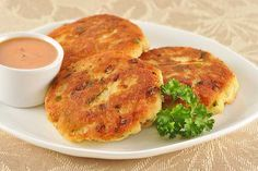 Golden Fish Patties with Chipotle-Orange Dipping Sauce: Mild, flaky tilapia fillets are combined with mashed potatoes and panko crumbs to make golden, crispy fish patties served with a chipotle-orange dipping sauce.