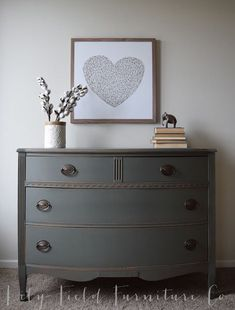 Sherwin Williams Cast Iron Dresser Color Matched by Country Chic Chalk Paint: Lily Field Furniture Co.