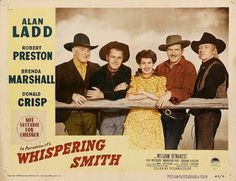 WHISPERING SMITH (1948) - Pictured (l. to r.) - Donald Crisp - Alan Ladd…