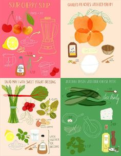 Illustrated Recipes by Claudia Pearson