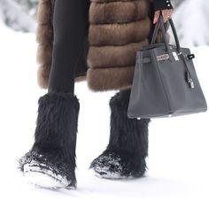 #snow #hermes #fur ❄️❄️❄️❄️