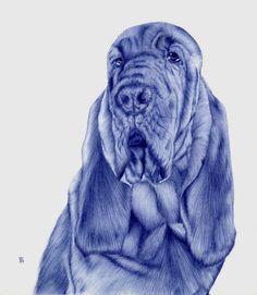 Incredible Ballpoint Pen Art by Sarah Esteje Pics) Amazing Drawings, Realistic Drawings, Amazing Art, Pen Drawings, Bic Pens, Ballpoint Pen Drawing, Ap Studio Art, Pen Sketch, Dog Art