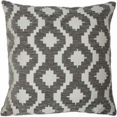 McAlister Textiles OUTLET Arizona Geometric Charcoal Grey Cushion Cushions and Covers Duck Egg Blue Cushions, Navy Blue Cushions, Black And White Cushions, Scatter Cushions, Cushions On Sofa, Large Cushion Covers, Arizona, Geometric Cushions, Chenille Fabric