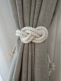 Rope Curtain Tie Back Nursery Curtain Gypsy Décor Boho Window Accessories Rope Curtain Tie Back Curtain Hooks Curtain Holdback Rustic TieBacks Cotton or jute macrame tie back is perfect home decor Rustic decor is hand made of eco materials. At photo Long Curtain Tie Backs Diy, Rope Curtain Tie Back, Curtain Ties, Diy Curtain Tiebacks, Rustic Curtains, Drapes Curtains, Cute Curtains, Coastal Curtains, Curtains With Hooks
