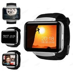 ﹩86.98. 3G Smart Wrist Watch Android SIM 4GB Bluetooth WIFI GPS For iPhone Samsung iOS    Operating System - Android 4.4, Compatible Operating System - Android, Storage Capacity - 4GB, Display - 2.2 inch IPS touch screen, resolution:320*240 pixel, Case Material - Stainless Steel, Band Material - Silicone/Rubber, Battery - 900mAh, 2G/3G Band - 2GGSM( 850,900,1800,1900), CPU - MTK6572 dual core,1.2GHz, Bluetooth - BT4.0 (Bluetooth push and syncs with Android), Band Color - Black,