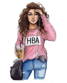 College Swag #collegegirl #hoodart #classic