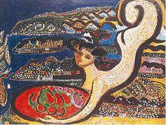 bedri rahmi eyüboğlu eserleri - Google'da Ara Painter Artist, Turkish Art, Mark Making, Drawings, Painting Art, Poet, Guitar, Artists, Woman