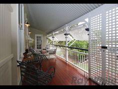 Ipswich Queenslander verandah with opening lattice panels