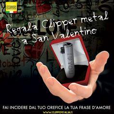 ✨ Manca poco a San Valentino, cogli l'occasione e fai incidere un Clipper Metal unico nel suo genere!