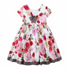 Girls Red Diamante Bow Party Special Occasion Tutu Ruffle Dress