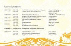 Schedule - Onam Festival 2013