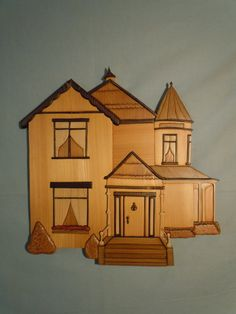 Victorian+House+Intarsia+Wall+Hanging+A106+by+Norenwood+on+Etsy,+$123.00