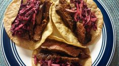 Steak Tacos Marinade featuring Steak Tacos and Spicy Red Cabbage Slaw
