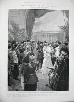 Arrival of Nicholas, Alexandra, and baby Olga to Moscow for the coronation festivities, 1896.
