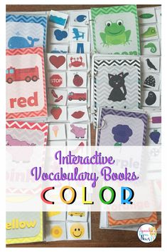 These Interactive Preschool Vocabulary books are designed for teaching COLOR vocabulary concepts related to basic colors to expand expressive utterances. Included in this packet: 8 Interactive Books. Each focuses on one color. Each book targets two word phrases (color + noun). Also included: sentence strips for students working on full sentence generation. Two homework coloring sheets are included that show color words and images.