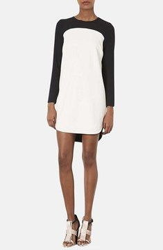 Topshop Colorblock Crepe Tunic Dress on shopstyle.com
