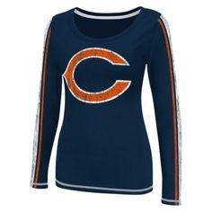 NFL Women s Long Sleeve Scoop - Bears! I need this! Blue Orange 55daba043