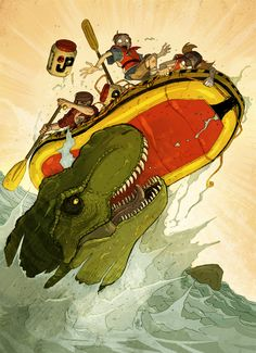 Jurassic Park: The River by *VanOxymore on deviantART    - too bad this scene didn't make the transition from book to movie