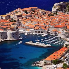 The harbor of Dubrovnik - so beautiful. Take me there!