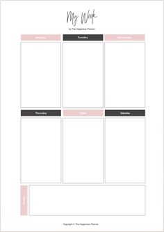 Ideas school organization printables free planner pages To Do Planner, Study Planner, Life Planner, Happy Planner, Week Planner, Homework Planner, College Planner, Agenda Planner, School Planner