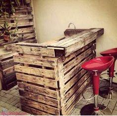 Restaurantes com mobiliário de Paletes Mais