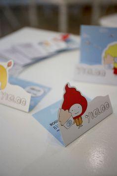 a yogurt shop business card. love the yigloo guy!