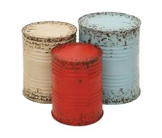 Colorful + Rustic Accent Tables.