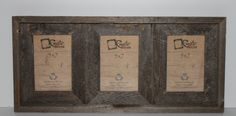 5x7 Rustic Reclaimed Wood Triple Opening by RusticDecorFrames, $39.99