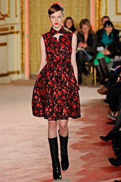 Black and red floral dress love | Thakoon Fall 2012 ((freaking adorable))