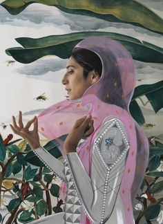 Sri Lanka-born, Toronto-based mixed media artist, Rajni Perera.