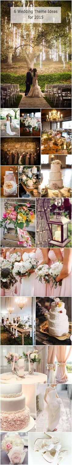 #weddingideas #weddingthemes top 6 trending wedding theme ideas for 2015 #GardenWeddingIdeas