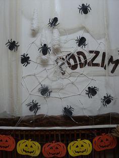 Halloween - dýně vystřihovánka a pavouci