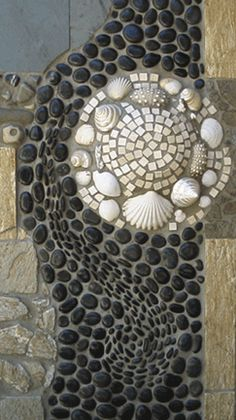 Closeup of part of the mosaic water garden I did in my backyard in SF.
