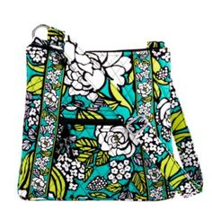 Vera Bradley Hipster in Island Blooms - big enough to fit a diaper/wipes & other essentials (tried it out at VB today) for a walk, quick shopping trip, etc with a toddler.  Just need to wait for my May coupon to buy it :-)