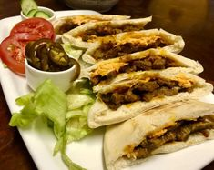 Bbq Steak Pitas recipe by Mrs Admin (mashuda) Pita Recipes, Sandwich Bread Recipes, Bbq Steak, Ginger And Honey, Food Categories, Coleslaw, Cheesesteak, Burgers, Sandwiches