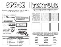 ELEMENTS OF ART SKETCHBOOK ACTIVITIES - TeachersPayTeachers.com