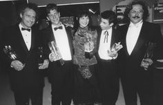 Love this photo I unearthed at work. The AFI Awards 1987 when THE YEAR MY VOICE BROKE picked up a stash of awards. L-R: John Duigan, Ben Mendelsohn, Loene Carmen, Noah Taylor and Dr George Miller.