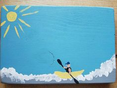 Wild River KAYAKING Mini Art Painted Sign On by MySalvagedPast