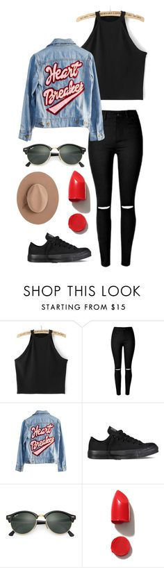 """Sin título #112"" by orianahalabi09 ❤ liked on Polyvore featuring High Heels Suicide, Converse, Ray-Ban, NARS Cosmetics and Calypso Private Label"