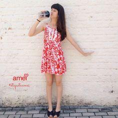 Quando aquela água gelada faz o tempo parar✨☀️🍃 #lojaamei #verão #vestido #muitoamor #novidades #rasteira #pésnasnuvens