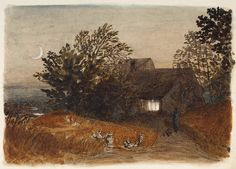 Samuel Palmer  The Cottager's Return, c.1833
