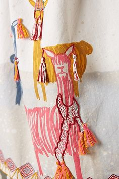 These llama towels are almost too cute to use! TAssels #anthroregistry Lucita Dishtowel - anthropologie.com