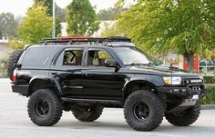 not digging the wood side panels but whatever Sw4 Toyota, 1999 Toyota 4runner, Toyota Surf, Toyota Trucks, Funny Truck Quotes, Toyota Four Runner, Overland 4runner, 3rd Gen 4runner, Bug Out Vehicle