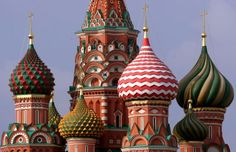 Hello, Freesia! [Russia is the biggest country in the world!  This Castle  is named St. Basil's Cathedral. It is extravagant and brightly colored. Russian-Culture-Overview-from-Art-to-Cuisine.jpg (431×278)]